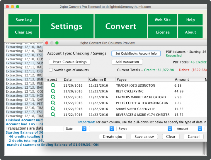 2qbo Convert Pro Screenshot on Mac