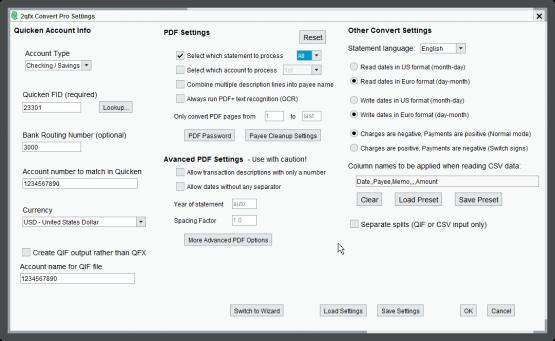 2qfx Convert Pro Settings