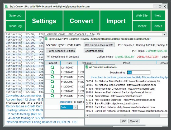2qfx Convert Pro screenshot