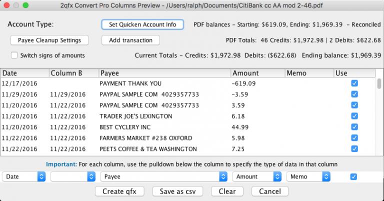 2qfx Convert Pro Screenshot on Mac