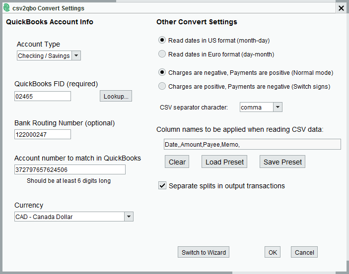 CSV2QBO_Settings