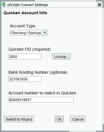 ofx2qfx Convert | Help - MoneyThumb