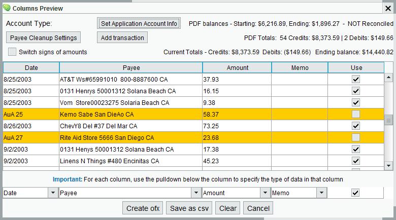 pdf2ofx Convert | Help - MoneyThumb