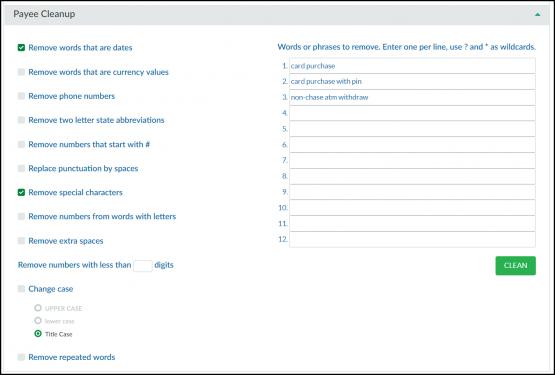 pdf online clean transactions