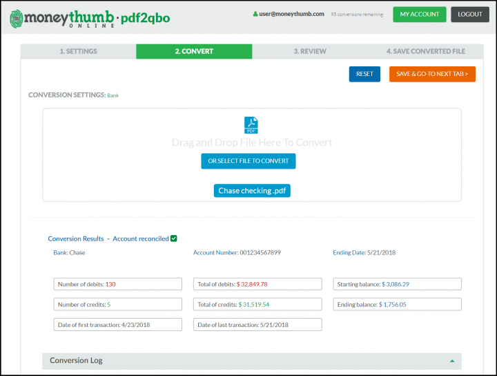 pdf2qbo Online Convert