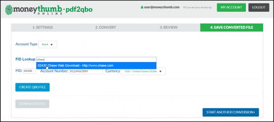 pdf2qbo Online Lookup