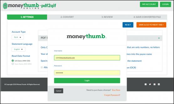 pdf2qif online login