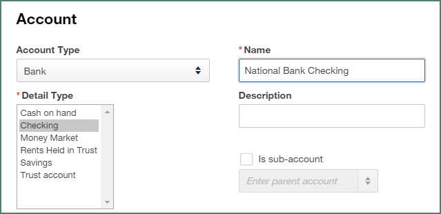 PDF to QuickBooks Online new account