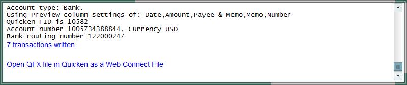 PDF to Quicken log